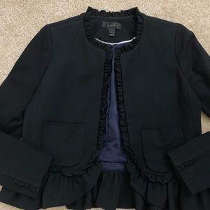 J. Crew Jackets & Coats - JCrew Black Ruffle Blazer
